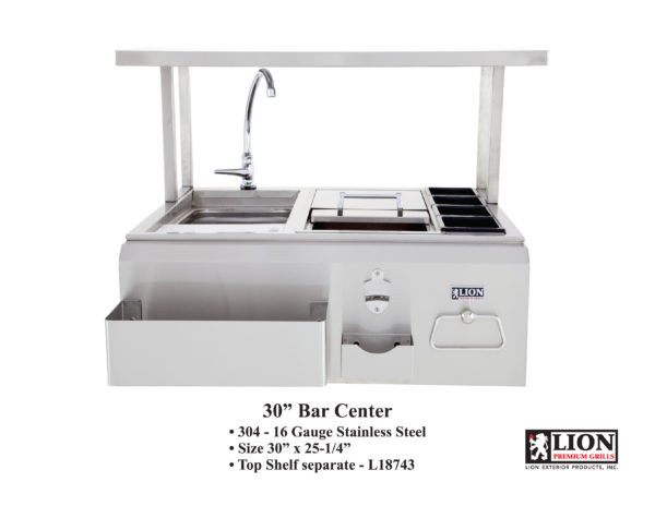 Lion Premium Grills Bar Center with Top Shelf
