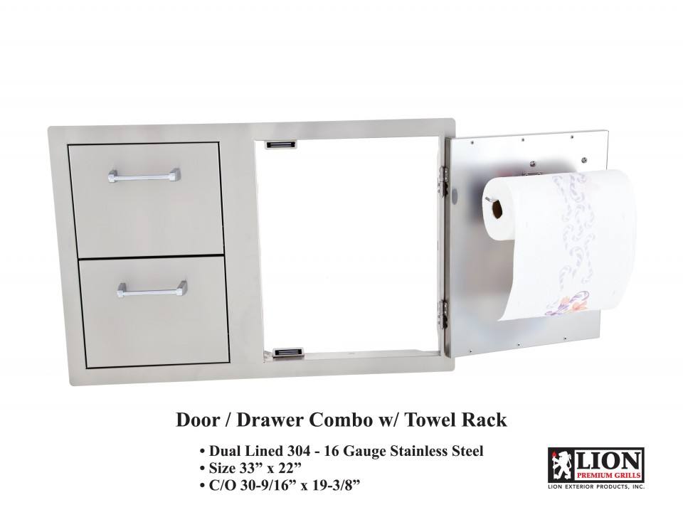 Lion Combination Access Door and Double Door with Towel Rack