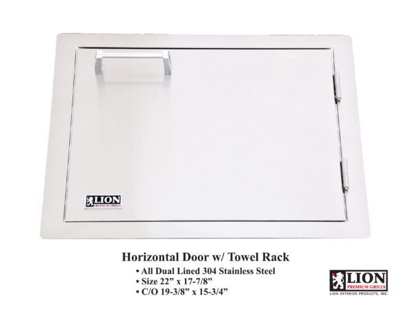 Lion Premium Grills Horizontal Door with Towel Rack