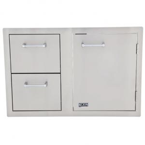 Door and Drawers Combo w/ Towel Rack
