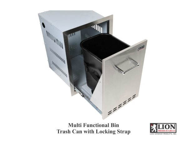Multi Functional Bin Trash Can with Locking Strap