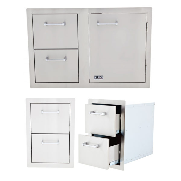 Double Drawer and Door and Drawer Combination