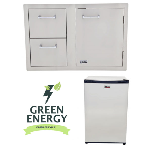 Refrigerator and Door and Drawer Combination