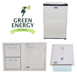 Combination Door/Drawer, Ice Chest and Refrigerator Package Deal