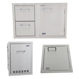 Combination Door/Drawer with Multi Function Bin and Vertical Access Door Package Deal