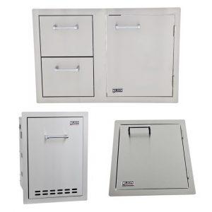 Combination Door/Drawer with Multi Function Bin and Vertical Access Door Package Deal
