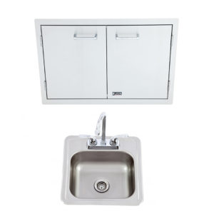 Double Door with Paper Towel Rack and Bar Sink with Faucet Package