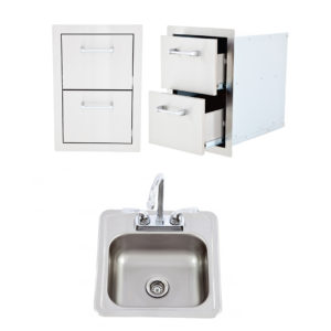 Double Drawer and Bar Sink with Faucet Package