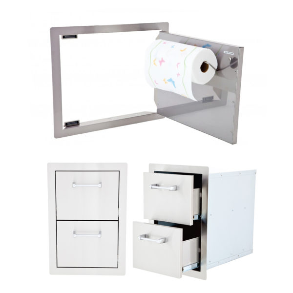 Horizontal Door with Towel Rack And Double Drawer (L2219 + L5312)