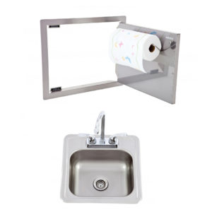 Horizontal Door with Paper Towel Rack and Bar Sink with Faucet Package