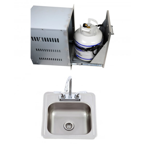 Multi-Function Bin + Bar Sink With Faucet (L55628 + 54167)
